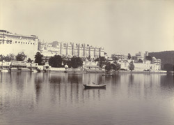 The Palace and the Lake, Udaipur. From the west